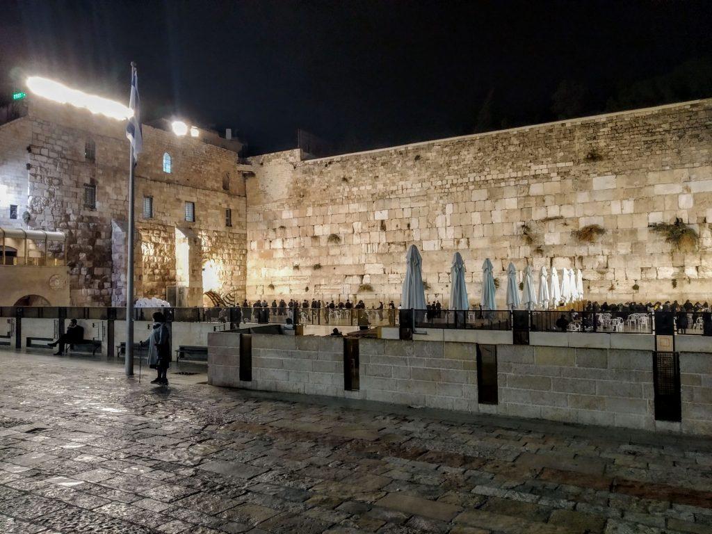 Il Muro del Pianto di notte